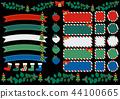 聖誕節裝飾和框架項目數字背景集合 44100665