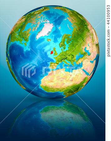 Ireland on Earth on reflective surface 44100953