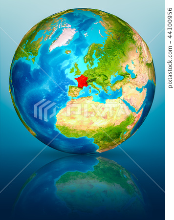 France on Earth on reflective surface 44100956