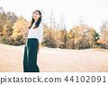 成熟的女人 一個年輕成年女性 女生 44102091
