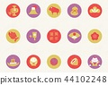 New Year's Day 2019 Lucky Things Round Background 44102248