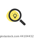 Magnifying glass looking for an idea icon 44104432