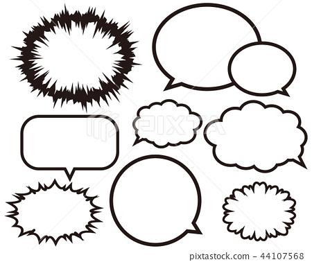 Speech Bubble Vector Serif 44107568