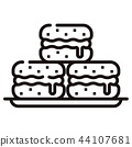 Macaron Line illustration 44107681