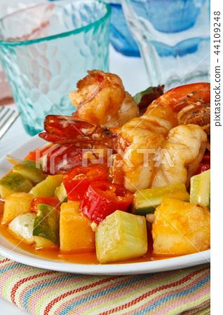 Thai Food,Sweet and Sour Shrimp 44109248