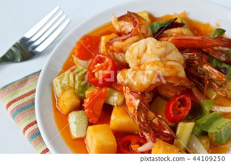 Thai Food,Sweet and Sour Shrimp 44109250