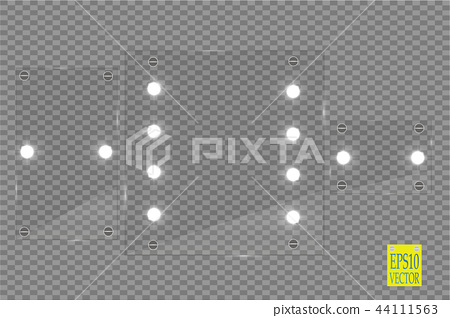 Makeup mirror isolated with lights. 44111563