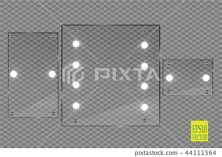 Makeup mirror isolated with lights. 44111564