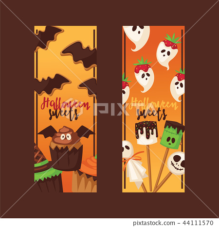 Halloween vector collection fear creepy traditional sign. Vector illustration for party invitation 44111570