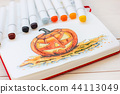 Sketch drawing by markers Halloween Pumpkin 44113049