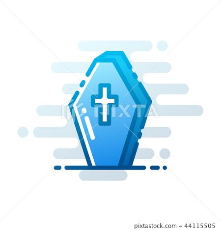 Coffin LineColor illustration 44115505