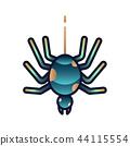 Spider gradient illustration 44115554