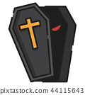Coffin LineColor illustration 44115643