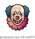 Clown gradient illustration 44116973