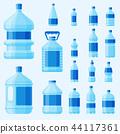 Water plastic bottle vector transparent mineral beverage blank refreshment nature blue clean liquid 44117361