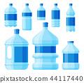 Water plastic bottle vector transparent mineral beverage blank refreshment nature blue clean liquid 44117440