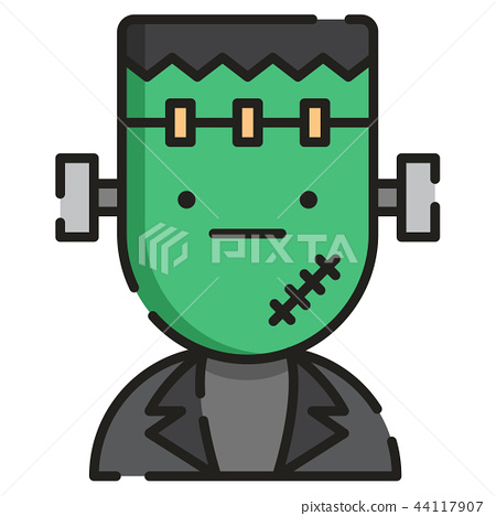 Frankenstein LineColor illustration 44117907