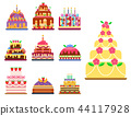 Wedding cake pie hand drawn style sweets dessert bakery ceremony delicious vector illustration. 44117928
