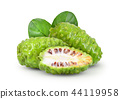 Noni with leaf on white background 44119958