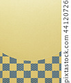 Japanese-Japanese style-Japanese pattern-background-gold leaf-checkered pattern 44120726