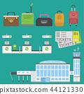 Plane airport transport symbols flat design illustration station concept air port symbols departure 44121330