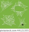 Spider web silhouette vector 44121355