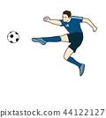 Football player shoot 44122127