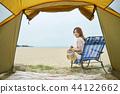 여성, 텐트, 여자 44122662
