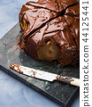Dark Chocolate cake with pears and pistachio 44125441