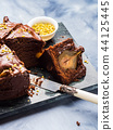 Dark Chocolate cake with pears and pistachio 44125445