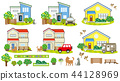 House scenery (flowers and pets) 44128969
