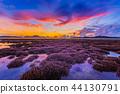 scenery sunrise above coral reef in Phuket island 44130791
