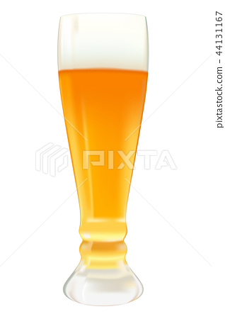 Glass of beer. Vector 3d illustration 44131167