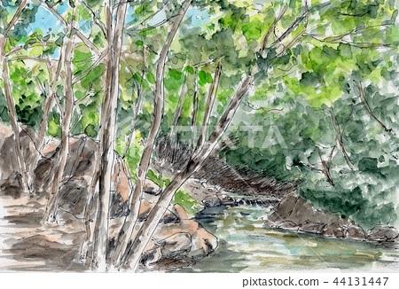 Mountain stream 44131447