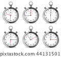 Stopwatch. Set of chrome clocks 44131501