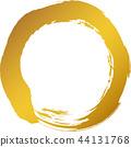 Round circle Gold brush character 44131768