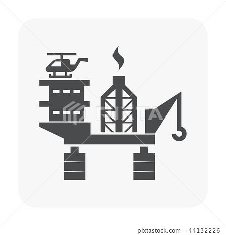 oil rig icon 44132226
