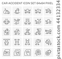 car accident icon 44132334