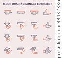 floor drain icon 44132336