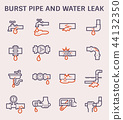 burst pipe icon 44132350