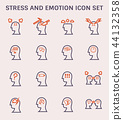 stress emotion icon 44132358