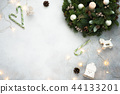 Christmas or new year background with copy space. 44133201
