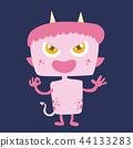 Cute monster cartoon character 44133283