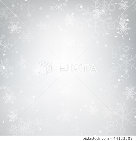 Abstract background snow falling against grey  44133305