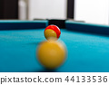 snooker ball on blue surface table 44133536