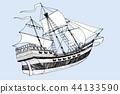 ship, sail, nautical 44133590