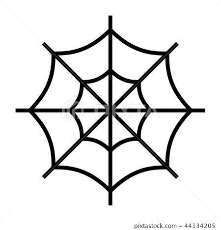 Spider web Line illustration 44134205