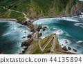 Stairs in San juan de Gaztelugatxe. Ultra long exposure top view 44135894