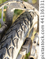 Close-up of bicycle tires 44136331