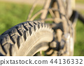 Close-up of bicycle tires 44136332